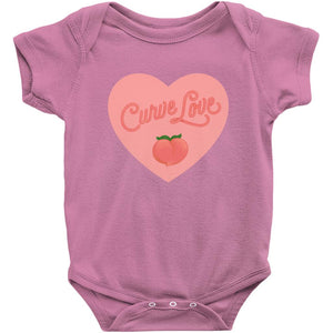 Curve Love Onesie-Center Front-Raspberry-NB-AllGo