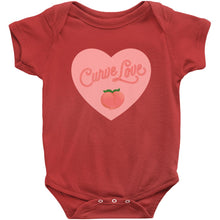 Load image into Gallery viewer, Curve Love Onesie-Center Front-Red-NB-AllGo