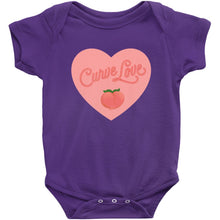 Load image into Gallery viewer, Curve Love Onesie-Center Front-Purple-NB-AllGo