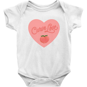 Curve Love Onesie-Center Front-White-NB-AllGo