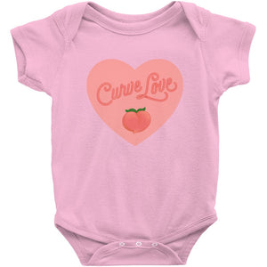 Curve Love Onesie-Center Front-Pink-NB-AllGo
