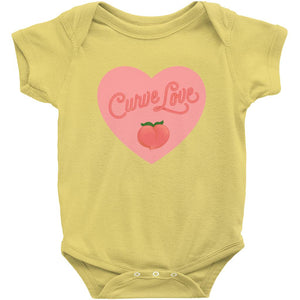 Curve Love Onesie-Center Front-Yellow-NB-AllGo
