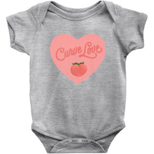 Load image into Gallery viewer, Curve Love Onesie-Center Front-Heather-6M-AllGo