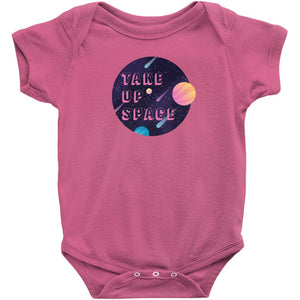 Take Up Space Onesie-Center Front-Hot Pink-NB-AllGo