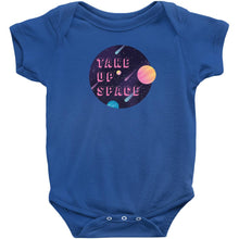 Load image into Gallery viewer, Take Up Space Onesie-Center Front-Royal-NB-AllGo