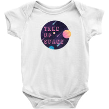Load image into Gallery viewer, Take Up Space Onesie-Center Front-White-NB-AllGo