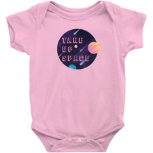 Load image into Gallery viewer, Take Up Space Onesie-Center Front-Pink-NB-AllGo