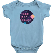 Load image into Gallery viewer, Take Up Space Onesie-Center Front-Light Blue-NB-AllGo