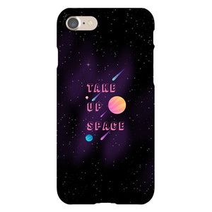 Take Up Space Phone Case-Premium Glossy Clear Case-iPhone 7-AllGo