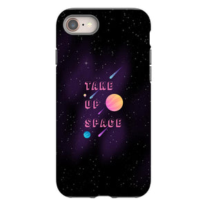 Take Up Space Phone Case-Premium Glossy Tough Case-iPhone 8-AllGo