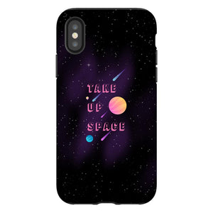Take Up Space Phone Case-Premium Glossy Tough Case-iPhone X-AllGo