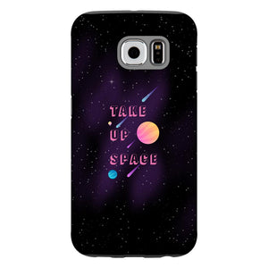 Take Up Space Phone Case-Premium Glossy Tough Black TPU Case-Samsung Galaxy S6-AllGo