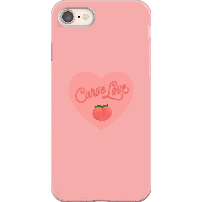 Curve Love Phone Case-Premium Flexi Case-iPhone 8-AllGo