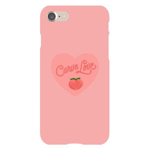 Curve Love Phone Case-Premium Matte Clear Case-iPhone 7-AllGo