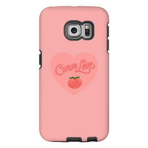 Curve Love Phone Case-Premium Matte Tough Case-Samsung Galaxy S6 Edge-AllGo