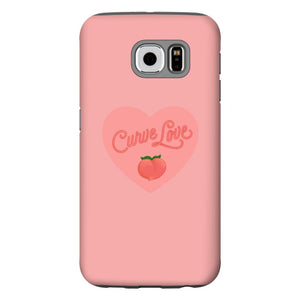 Curve Love Phone Case-Premium Matte Tough Black TPU Case-Samsung Galaxy S6-AllGo