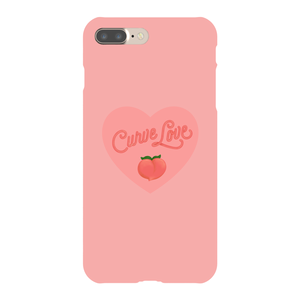 Curve Love Phone Case-Premium Matte Clear Case-iPhone 7 Plus-AllGo