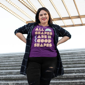 All Shapes are Good Shapes Classic Fit Tagless T-Shirt-Shirts-AllGo