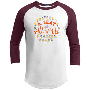 A Seat For All Of Us Classic Fit Raglan 3/4 Sleeve T-Shirt-T-Shirts-AllGo
