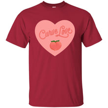Load image into Gallery viewer, Curve Love Classic Fit Cotton T-Shirt in Cardinal from AllGo's merch store featuring plus size statement apparel and more