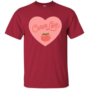 Curve Love Classic Fit Cotton T-Shirt in Cardinal from AllGo's merch store featuring plus size statement apparel and more