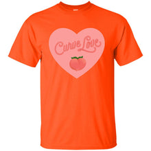 Load image into Gallery viewer, Curve Love Classic Fit Cotton T-Shirt in Orange from AllGo's merch store featuring plus size statement apparel and more