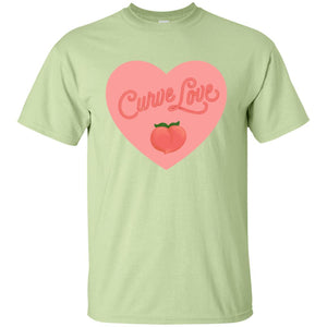 Curve Love Classic Fit Cotton T-Shirt in Pistachio from AllGo's merch store featuring plus size statement apparel and more