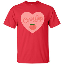 Load image into Gallery viewer, Curve Love Classic Fit Cotton T-Shirt in Red from AllGo's merch store featuring plus size statement apparel and more