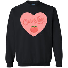Load image into Gallery viewer, Curve Love Classic Fit Crewneck Sweatshirt in Black from AllGo's merch store featuring plus size statement apparel and more