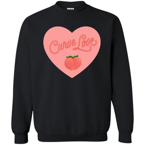 Curve Love Classic Fit Crewneck Sweatshirt in Black from AllGo's merch store featuring plus size statement apparel and more
