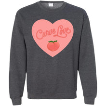 Load image into Gallery viewer, Curve Love Classic Fit Crewneck Sweatshirt in Dark Heather from AllGo's merch store featuring plus size statement apparel and more