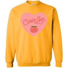 Load image into Gallery viewer, Curve Love Classic Fit Crewneck Sweatshirt in Gold from AllGo's merch store featuring plus size statement apparel and more