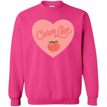 Load image into Gallery viewer, Curve Love Classic Fit Crewneck Sweatshirt in Heliconia from AllGo's merch store featuring plus size statement apparel and more