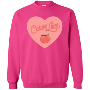 Curve Love Classic Fit Crewneck Sweatshirt in Heliconia from AllGo's merch store featuring plus size statement apparel and more