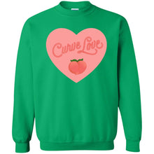 Load image into Gallery viewer, Curve Love Classic Fit Crewneck Sweatshirt in Irish Green from AllGo's merch store featuring plus size statement apparel and more