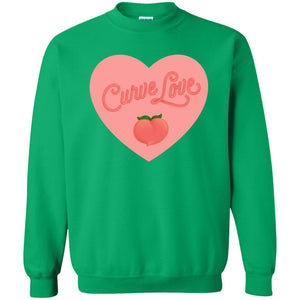 Curve Love Classic Fit Crewneck Sweatshirt in Irish Green from AllGo's merch store featuring plus size statement apparel and more