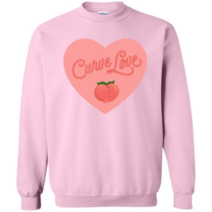 Curve Love Classic Fit Crewneck Sweatshirt in Light Pink from AllGo's merch store featuring plus size statement apparel and more