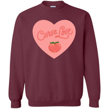 Load image into Gallery viewer, Curve Love Classic Fit Crewneck Sweatshirt in Maroon from AllGo's merch store featuring plus size statement apparel and more