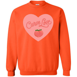 Curve Love Classic Fit Crewneck Sweatshirt in Orange from AllGo's merch store featuring plus size statement apparel and more