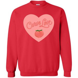Curve Love Classic Fit Crewneck Sweatshirt in Red from AllGo's merch store featuring plus size statement apparel and more