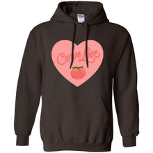 Load image into Gallery viewer, Curve Love Classic Fit Hoodie Sweatshirt in Dark Chocolate from AllGo's merch store featuring plus size statement apparel and more