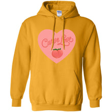 Load image into Gallery viewer, Curve Love Classic Fit Hoodie Sweatshirt in Gold from AllGo's merch store featuring plus size statement apparel and more