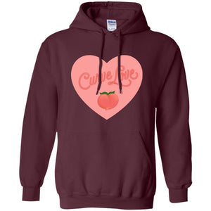 Curve Love Classic Fit Hoodie Sweatshirt in Maroon from AllGo's merch store featuring plus size statement apparel and more
