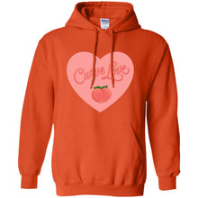 Load image into Gallery viewer, Curve Love Classic Fit Hoodie Sweatshirt in Orange from AllGo's merch store featuring plus size statement apparel and more