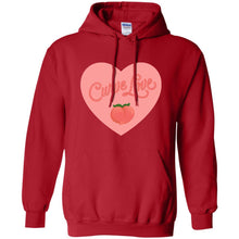 Load image into Gallery viewer, Curve Love Classic Fit Hoodie Sweatshirt in Red from AllGo's merch store featuring plus size statement apparel and more