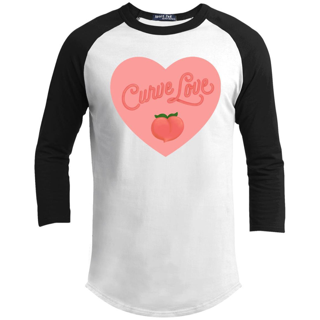 Curve Love Classic Fit Raglan 3/4 Sleeve T-Shirt-T-Shirts-White/Black-XS-AllGo