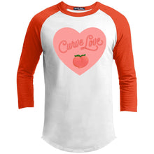 Load image into Gallery viewer, Curve Love Classic Fit Raglan 3/4 Sleeve T-Shirt-T-Shirts-White/Deep Orange-XS-AllGo