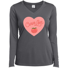 Load image into Gallery viewer, Curve Love Fitted Long Sleeve T-Shirt in Iron Grey from AllGo's merch store featuring plus size statement apparel and more
