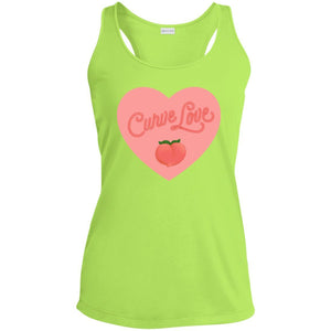 Curve Love Fitted Racerback Moisture-Wicking Tank Top in Lime Shock from AllGo's merch store featuring plus size statement apparel and more