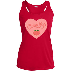 Curve Love Fitted Racerback Moisture-Wicking Tank Top in True Red from AllGo's merch store featuring plus size statement apparel and more